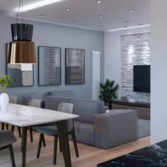 اتاق نشیمن توسطSantoro Design Render, مدرن