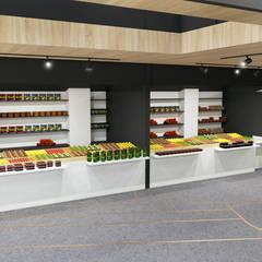 Creación de un mercado : Locales gastronómicos de estilo  de GODADESIGN, Moderno