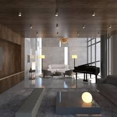Robus Mimarlık Mühendislik – Yıldırım Villa:  tarz Oturma Odası,