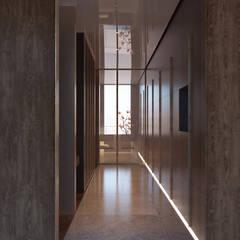 Robus Mimarlık Mühendislik – Yıldırım Villa:  tarz Giyinme Odası,
