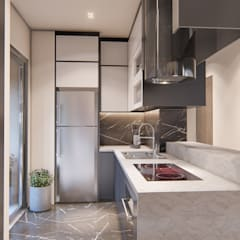 Built-in kitchens by 1:25 Studio,