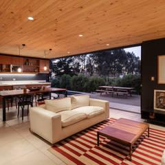 اتاق نشیمن توسطAFARQ Arquitectos