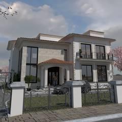 casa jalostoritlan : Villas de estilo  por acadia arquitectos