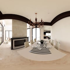 Comedores de estilo  por acadia arquitectos