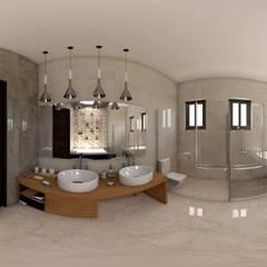 casa jalostoritlan : Baños de estilo  por acadia arquitectos, Mediterráneo Cerámico