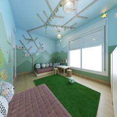 Dormitorios de bebé de estilo  por coelho lima arquitetura,