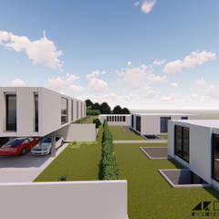 Villas de estilo  por ARQUITECTOSRT