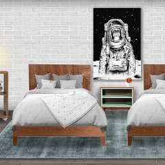 Decoración de interiores, proyecto familiar de moblum: Recámaras para niños de estilo  por moblum, Moderno