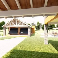 VIVIENDA UNIFAMILIAR: Garajes de estilo  por INNOVA,Moderno Madera Acabado en madera