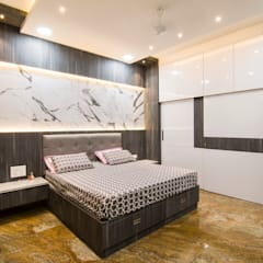 Small bedroom by single pencil architects & interior designers