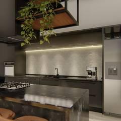 مطبخ ذو قطع مدمجة تنفيذ Arquitecta Ana Belen,
