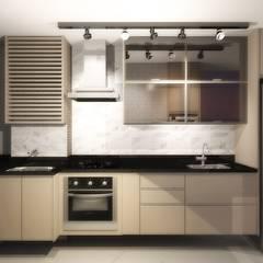 Petites cuisines de style  par Nainá Julio  - Designer de Interiores
