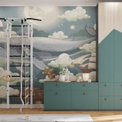 ЖК level Кутузовский: Спальни для мальчиков в . Автор – Зоя Ахманаева, Модерн Бетон