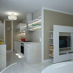 Petites cuisines de style  par Anastasia Reicher Interior Design & Decoration in Wien