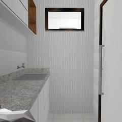 Projeto para área de serviços de um apartamento : Paredes  por Igor Cunha Arquitetura