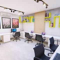 Projeto para escritório de Arquitetura e Engenharia: Escritórios  por Igor Cunha Arquitetura