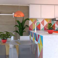 Casa, Decoração e Saúde: Armários e bancadas de cozinha  por Juliana Costa Designer de Interiores,Minimalista Pedra