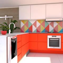 Casa, Decoração e Saúde: Armários e bancadas de cozinha  por Juliana Costa Designer de Interiores,Minimalista Madeira Efeito de madeira
