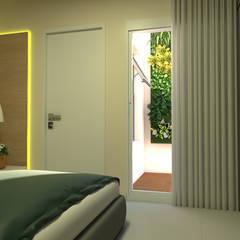 Small bedroom by Juliana Costa Designer de Interiores