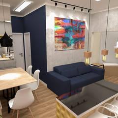 Apartamento Residencial 55m² Salas de jantar ecléticas por Fareed Arquitetos Associados Eclético