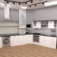 Kitchen units by Fareed Arquitetos Associados,