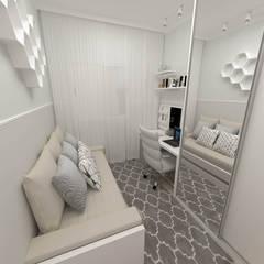 Projekty,  Małe sypialnie zaprojektowane przez Fareed Arquitetos Associados, Eklektyczny