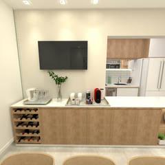 Implantação de Apartamento Residencial 68m2: Eletrônicos  por Fareed Arquitetos Associados,Moderno