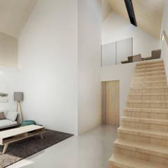 Ruang Keluarga Minimalis Oleh Kolletra Visual Studio Minimalis Kayu Wood effect