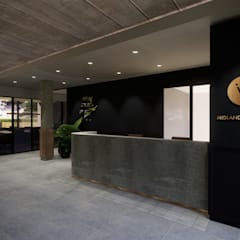 Co-work office space:  Office buildings by Acre studio, Modern Granite