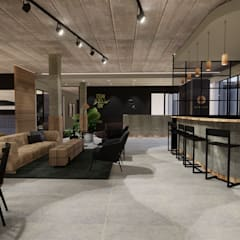 Co-work office space:  Commercial Spaces by Acre studio, Modern Granite