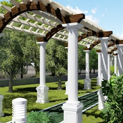 Сад на набережной реки Ишим: Сады в . Автор – LEVYCH COMPANY, Азиатский