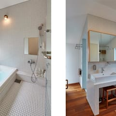 家具屋さんの住宅: CO2WORKSが手掛けた浴室です。,
