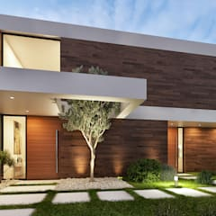 Villas by Traçado Regulador. Lda, Modern لکڑی Wood effect