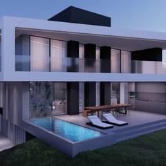 Single family home by MM Arquitetura, Minimalist Slate