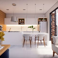 Cozinha Minimalista: Cozinhas  por Estúdio Yotta
