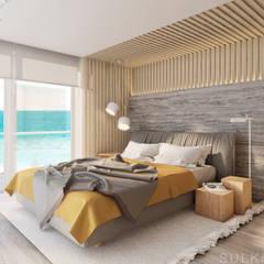Miami Spiaggia : Recámaras pequeñas de estilo  por Sulkin Askenazi