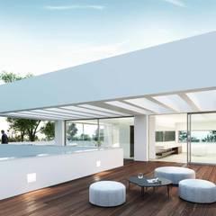 Teras oleh Otto Medem Arquitecto vanguardista en Madrid