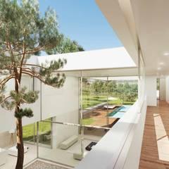 Obra nueva de Arquitectura de autor en Madrid: Jardines de estilo  de Otto Medem Arquitecto vanguardista en Madrid, Moderno