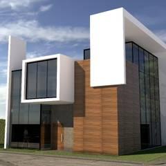 La casa Amanda: Casas de campo de estilo  por Arq. Bruno Agüero,