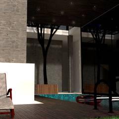 La casa Amanda: Piscinas de jardín de estilo  por Arq. Bruno Agüero,