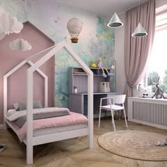 Mieszkanie w Krakowie: styl , w kategorii Pokój dla dziwczynki zaprojektowany przez GOLT Studio