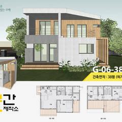 공간제작소 설계사례 #6: 공간제작소(주)의  목조 주택,모던