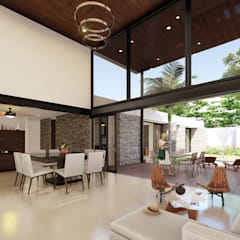 Comedores de estilo  por MUTAR Arquitectura, Moderno