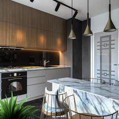 Beta İç Mimarlık – DoubleHouse:  tarz Mutfak,