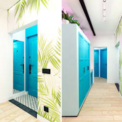 Tropical style corridor, hallway & stairs by Goodinterior Наталья Жаляускене Tropical