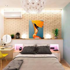 Habitaciones de estilo  por Goodinterior Наталья Жаляускене , Tropical