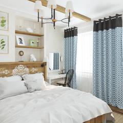 Dormitorios de estilo  por Goodinterior Наталья Жаляускене ,