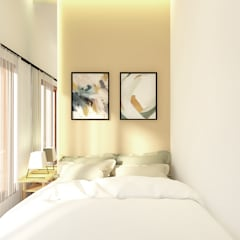 Petemon House: Kamar tidur kecil oleh SEKALA Studio,
