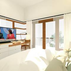 Petemon House: Kamar Tidur oleh SEKALA Studio,