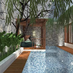 Petemon House:  Kolam Renang by SEKALA Studio